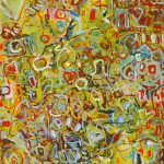 Malerei Spurenfeld 11, 90x80cm, Öl Lwd, 1998