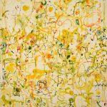 Malerei Spurenfeld 184, 120x100cm, Öl Lwd, 1998