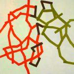 Malerei Network 1, 90x90 cm, Acryl Lwd. 2005