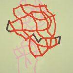 Malerei Network 3, 100x100xm,Acryl,Lwd.2005
