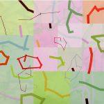 Malerei Network I,90x90cm, Acryl Lwd,2006
