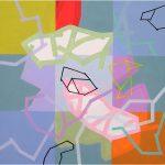 Malerei Network IX,90x90cm, Acryl Lwd, 2005