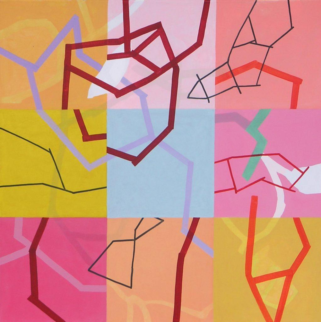 Malerei Network VIII, 90x90cm,Acryl Lwd,2005